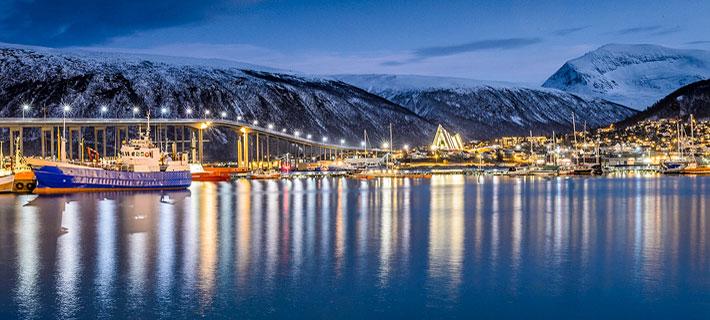 Tromsø Bild aus dem Vortrag Norwegen von Petra & Gerhard Zwerger-Schoner